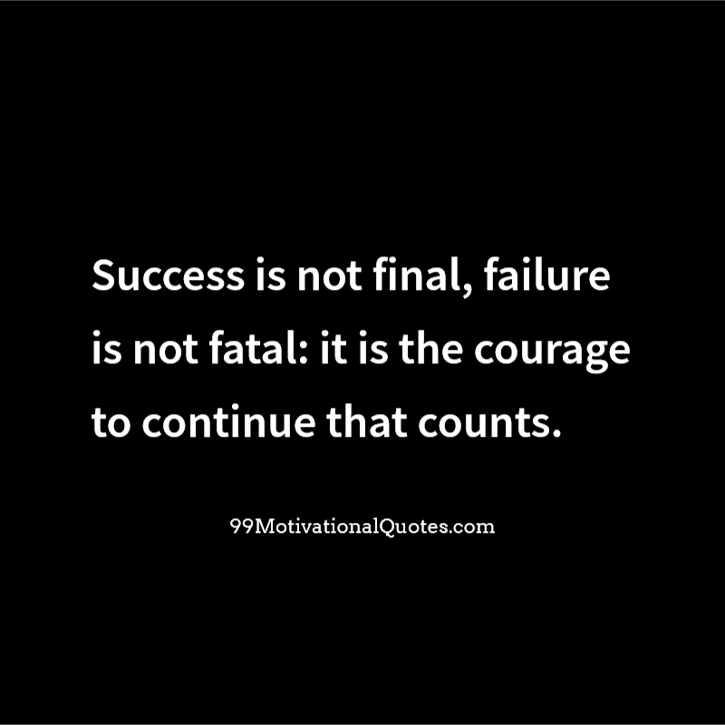 Motivational Quotes About Success: Motivational Quote By Winston Churchill About Courage